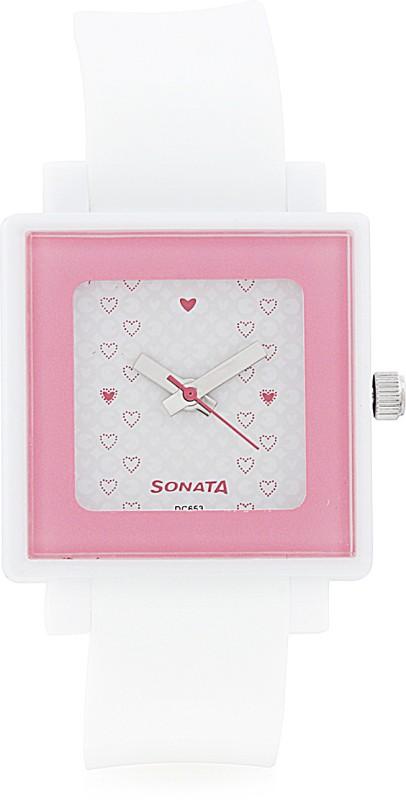 Sonata NF8996PP04 Super Fibre Analog Watch For Women