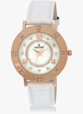 Escort E-1600-1380_White Analog Watch  - For Girls, Women