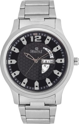 Swisstyle SS-GR8055-BLK Analog Watch  - For Men