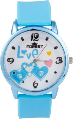 Forest Addic Love Heart Analog Watch  - For Women
