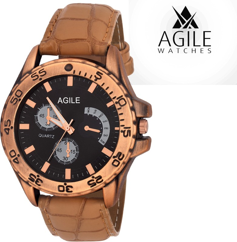 Agile AGM095 Classique Chrono pattern Dial Analog Watch For Me