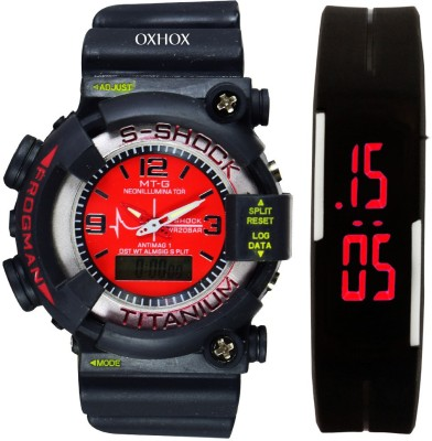 OXHOX Combo deal 3 Analog-Digital Watch  - For Couple