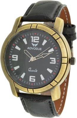 Advogue black and black Analog Watch  - For Men, Boys
