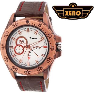 Xeno ZD000326 Brown Leather Men Analog Watch  - For Men, Boys
