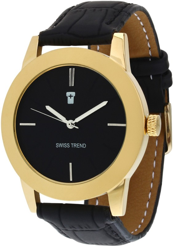 Swiss Trend ST2116 Golden Finish Analog Watch For Men