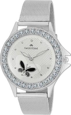 SWISSTONE VOGLR501-WHITE-CH Analog Watch  - For Women, Girls