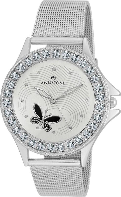 SWISSTONE VOGLR501 WHITE CH Analog Watch For Women