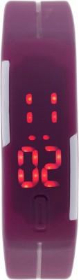 KMS MegnetBelt_PurpleLed Digital Watch  - For Men, Women, Boys, Girls