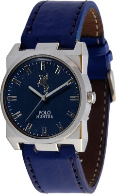 Polo Hunter Square Shaped Round Modest Analog Watch  - For Men