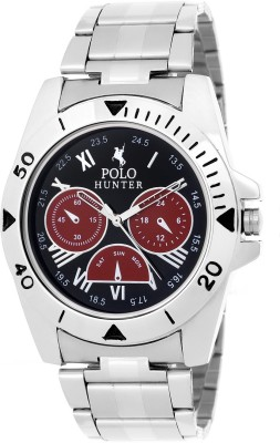 Polo Hunter Stylish Dial-06 Modest Analog Watch  - For Men