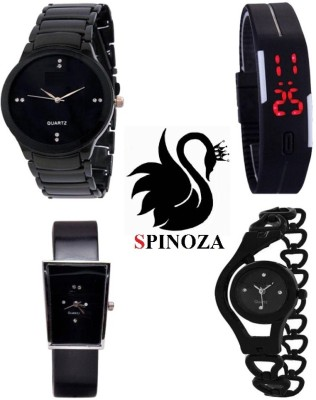 SPINOZA glory iik black professional watches for girls boys womens set of 5 Analog Watch  - For Boys