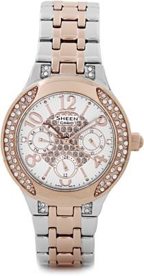 Casio SX106 Sheen Analog Watch  - For Women