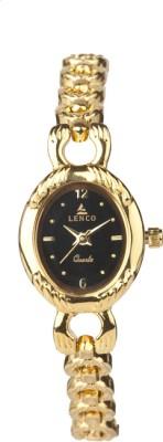 Lenco CPLENCOLADIES7010B Lenco Golden Beauty Analog Watch  - For Women