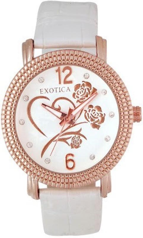 Exotica Fashions EFL 704 White Basic Analog Watch For Women