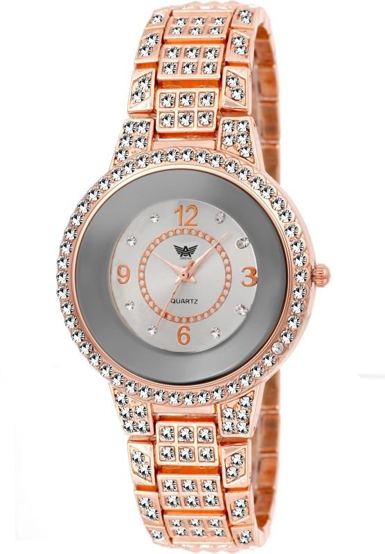 Abrexo Abx 4019 Crystal Studded Analog Watch For W WATERYHMFWUGQA4B