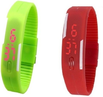 H.P.D Rubber Magnet Led Sports Digital Watch  - For Boys, Men, Girls