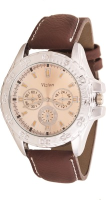 Vizion VSF-04SILVER Classic Time Analog Watch  - For Men, Boys