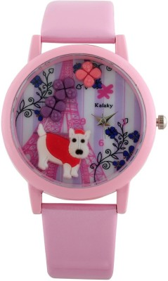 Now 3D-LP PUPPY Pink colour Strap Analog Watch  - For Women