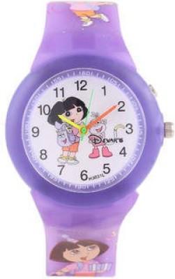 Cosmic Cosmic Amazing Dora Kids Watch With 14 Multi Colour Light. Analog Watch  - For Girls
