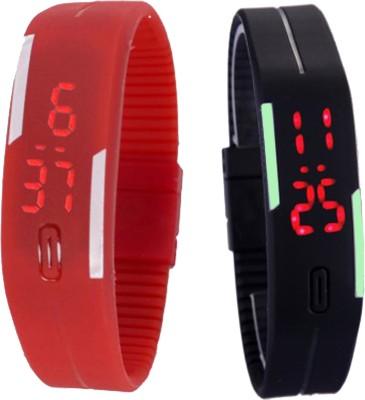 Oxter CMB-Rd-BkSb Modest Digital Watch  - For Boys