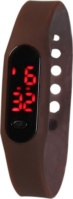 RBS Online Trading Company Sleek_Ultra Thin_Brown_LED Digital Watch  - For Men, Women, Boys, Girls