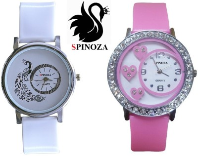 SPINOZA glory pink white peacock beautiful watches for girls pack of 2 watch Analog Watch  - For Women