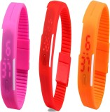 Y And D Combo of Led Band Pink + Red + O...