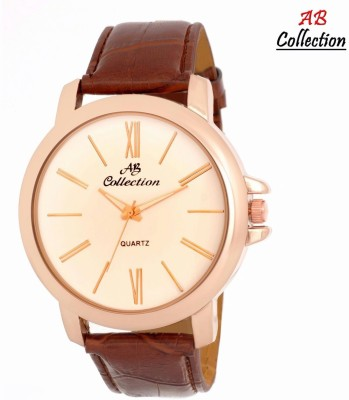 Ab Collection Cream_frmlbrwn Analog Watch  - For Men, Boys