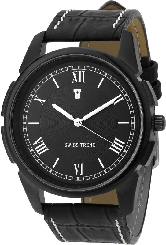 Swiss Trend ST2163 All Black Superior Analog Watch For Men