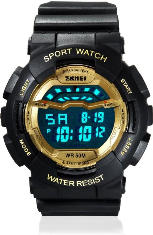 Skmei DG1012 Gold Sports Digital Watch For Men