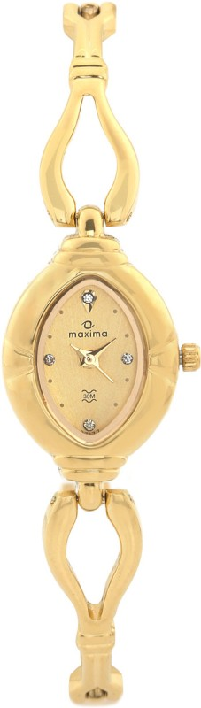 Maxima 07177BMLY Gold Analog Watch For Women