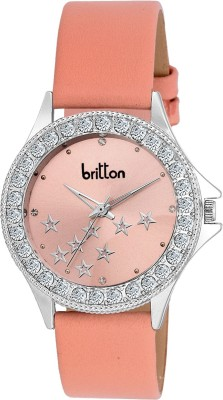 BRITTON CRYSTAL STUDDED-BR-LR001-PNK Analog Watch  - For Girls