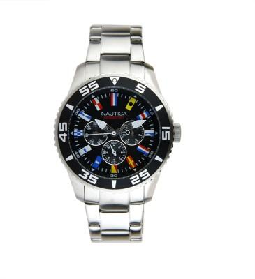 Nautica NTA14631G Black Dial, Multifunction, Japanese Quartz Analog Watch  - For Men