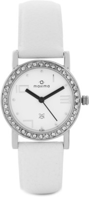 Maxima 27120LMLI Swarovski Analog Watch - For Women