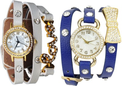 COSMIC GEN6647 PACK OF TWO DIAMOND STUDDED DESIGNER WOMEN WATCHES Analog Watch  - For Women