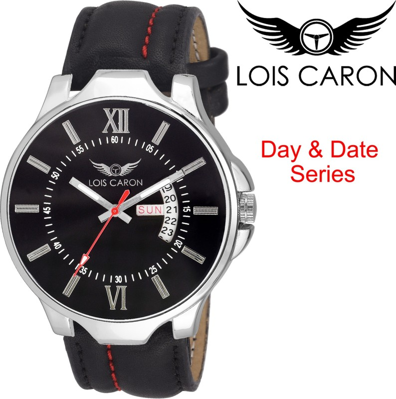 Lois Caron LCS 4119 BLACK DAY DATE Analog Watch For Men