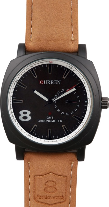 Curren Miliarty Black Sports Miliatry Analog Watch For Men