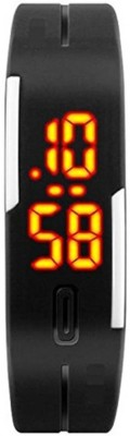 Parifashion Black_LED Digital Watch  - For Boys, Men, Girls, Women, Couple