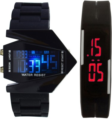 Oxhox Digital 7 color led watch Digital Watch - For Couple