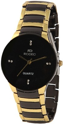RODEC golden black mens rich look watch Analog Watch  - For Men