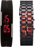 SJ Digital Combo Watch Steel and Rubber ...