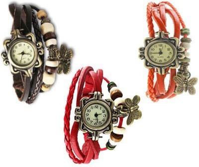 Jack Klein vintage_black_red_orange Watch Analog Watch  - For Girls, Women