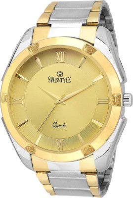 Swisstyle Two tone-SS-GR120-GLD-CH Analog Watch  - For Boys, Men