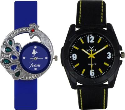 Frida Designer VOLGA Beautiful New Branded Type Watches Men and Women Combo48 VOLGA Band Analog Watch  - For Couple