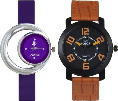 Frida Designer VOLGA Beautiful New Branded Type Watches Men and Women Combo125 VOLGA Band Analog Watch  - For Couple