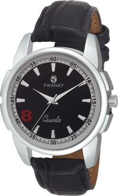 Swanky SC-MW-Dgt08-Blk Analog Watch  - For Boys, Men