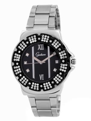Gesture Gesture Elegant 9005-Bk Watch For Women Elegant Analog Watch  - For Women
