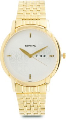 Sonata 77031YM03 Analog Watch - For Men