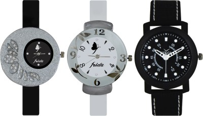 Frida Designer VOLGA Beautiful New Branded Type Watches Men and Women Combo379 VOLGA Band Analog Watch  - For Couple