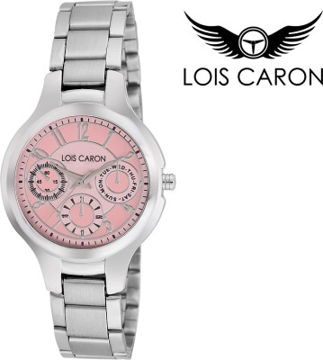 Lois Caron Lcs-4512 Pink Chronograph Pattern Analog Watch  - For Girls, Women